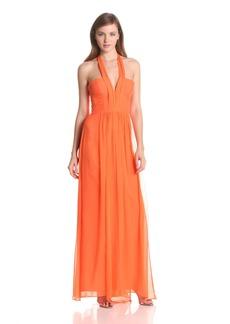 BCBG Max Azria BCBGMAXAZRIA Women's Starr Deep V-Neck Halter Dress