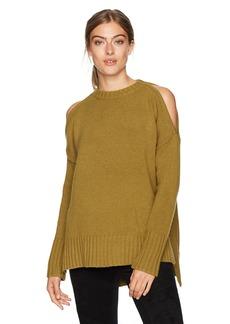 BCBG Max Azria BCBGMAXAZRIA Women's Steffe Knit Cold Shoulder Sweater  M