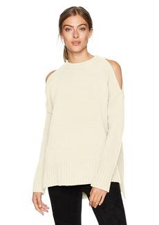 BCBG Max Azria BCBGMAXAZRIA Women's Steffe Knit Cold Shoulder Sweater  S