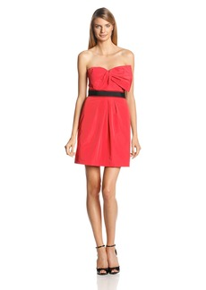 BCBGMAXAZRIA Women's Strapless Cocktail Dress Red