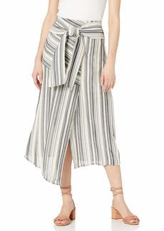 BCBG Max Azria BCBGMAXAZRIA Women's Striped Asymmetrical Midi Skirt  L