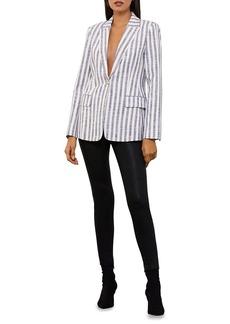 BCBG Max Azria BCBGMAXAZRIA Women's Striped Blazer Jacket