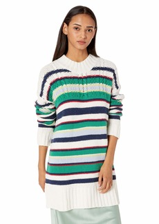BCBG Max Azria BCBGMAXAZRIA Women's Striped Boyfriend Sweater  XS
