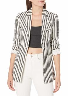 BCBG Max Azria BCBGMAXAZRIA Women's Striped Long Sleeve Blazer  XS (US )
