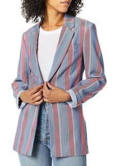BCBG Max Azria BCBGMAXAZRIA Women's Striped Single-Breasted Blazer  S