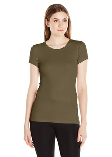 BCBGMAXAZRIA Women's Tammy Shortsleeve Round Neck Top