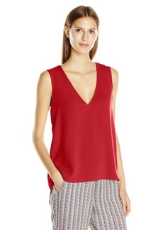 BCBGMAXAZRIA Women's Tayloir Cascade Ruffle Top