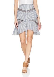 BCBG Max Azria BCBGMAXAZRIA Women's Tiered Ruffle Stripe Skirt  S