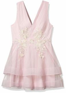 BCBG Max Azria BCBGMAXAZRIA Women's Tulle Applique Dress