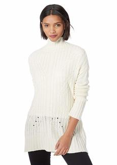 BCBG Max Azria BCBGMAXAZRIA Women's Turtleneck Sequin Tunic Sweater  L
