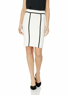 BCBG Max Azria BCBGMAXAZRIA Women's Two-Tone Bodycon Skirt  L