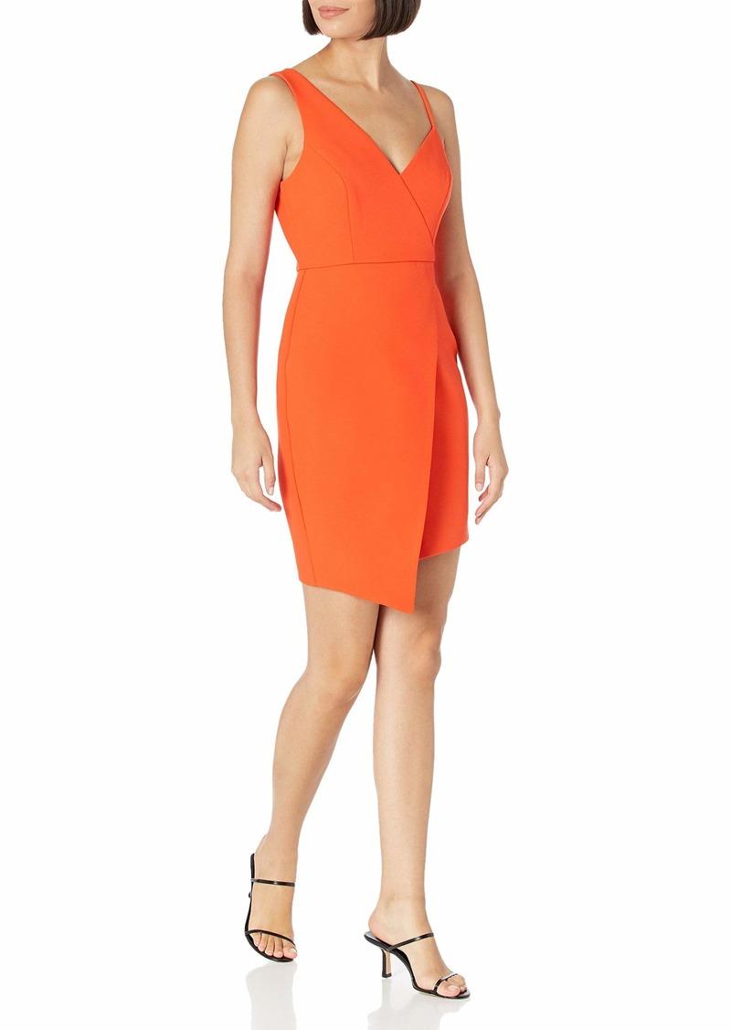 BCBG Max Azria BCBGMAXAZRIA Women's V-Neck Asymmetrical Mini Dress