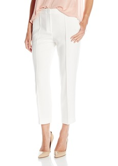 BCBG Max Azria BCBGMAXAZRIA Women's Woven City Pant-Gerry-Pintucked Croppe Off