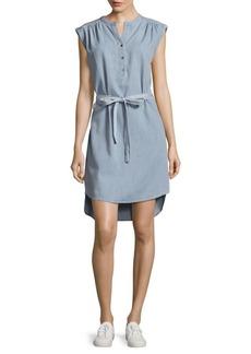 BCBGMAXAZRIA Woven Denim Shirt Dress