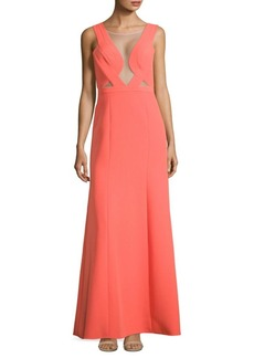 BCBG Max Azria Open Back Evening Gown