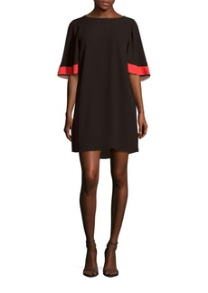 BCBGMAXAZRIA Woven Half Sleeve Shift Dress