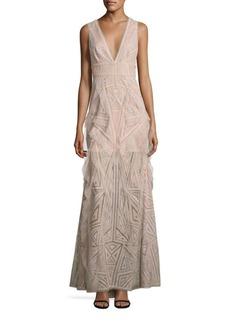 BCBG Max Azria BCBGMAXAZRIA Lace Ruffle Gown