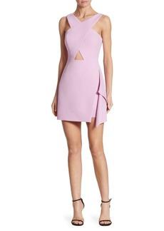 BCBGMAXAZRIA X-Front Cutout Dress