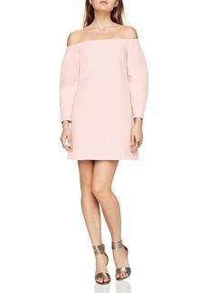 BCBGMAXAZRIA Yesenia Off-the-Shoulder Shift Dress