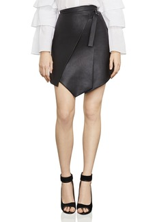 BCBG Max Azria BCBGMAXAZRIA Yulissa Asymmetric Faux Leather Skirt