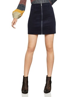 BCBG Max Azria BCBGMAXAZRIA Zip-Front Corduroy Mini Skirt - 100% Exclusive