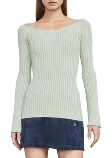 BCBG Max Azria Zoee Off-the-Shoulder Sweater