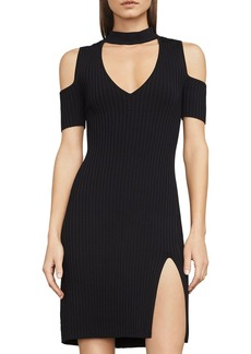 BCBGMAXAZRIA Zoelle Cold-Shoulder Tunic Sweater Dress