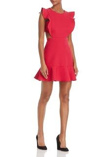 Bcbgmazria Ruffle Trim Cutout Dress
