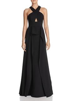 Bcbmgmaxaxria Bryleigh Cross-Front Ruffle Gown