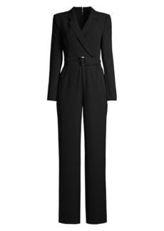 BCBG Max Azria Belted Blazer Jumpsuit
