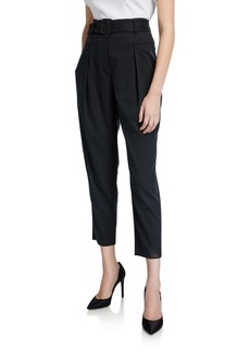 BCBG Max Azria Belted Woven Cropped Pants