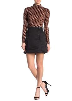 BCBG Max Azria Button Front Mini Skirt