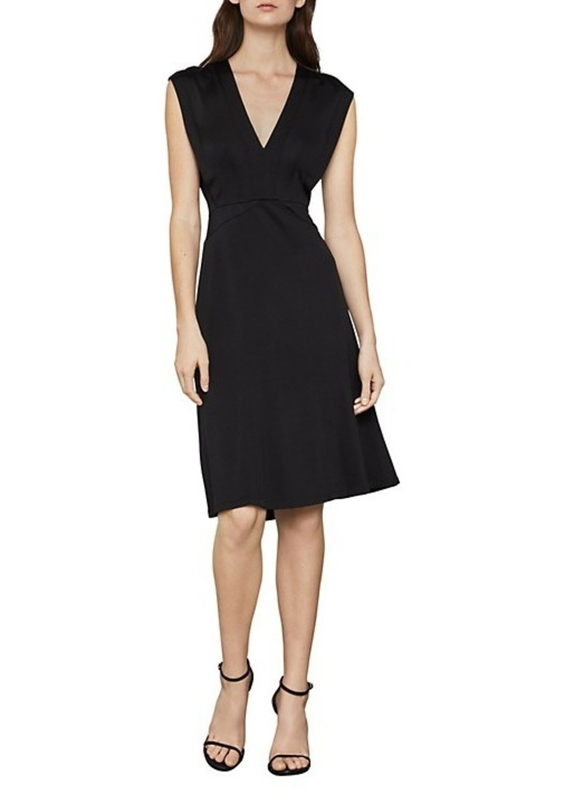 BCBG Max Azria Cap Sleeve A-Line Dress