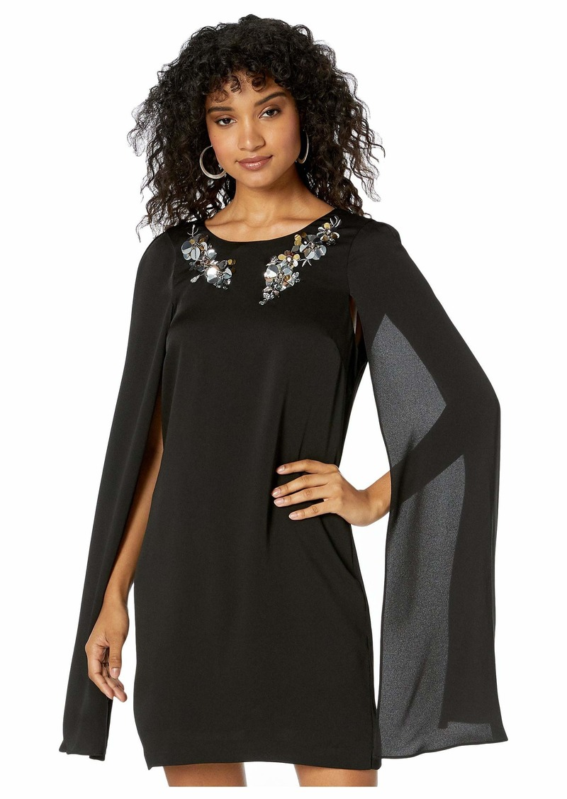 BCBG Max Azria Cape Cocktail Dress