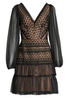 BCBG Max Azria Circle Lace Cocktail Dress