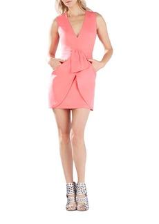 BCBG Max Azria Clare Sleeveless Draped Dress