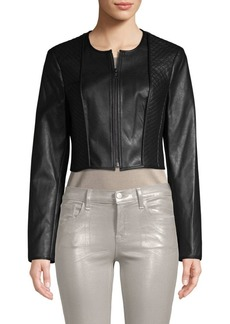 BCBG Max Azria Classic Faux Leather Moto Jacket