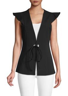 BCBG Max Azria Classic Flutter-Sleeve Vest