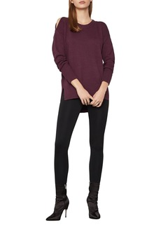 BCBG Max Azria Cold Shoulder High/Low Knit Sweater