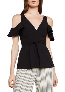BCBG Max Azria Cold-Shoulder Ruffle Top