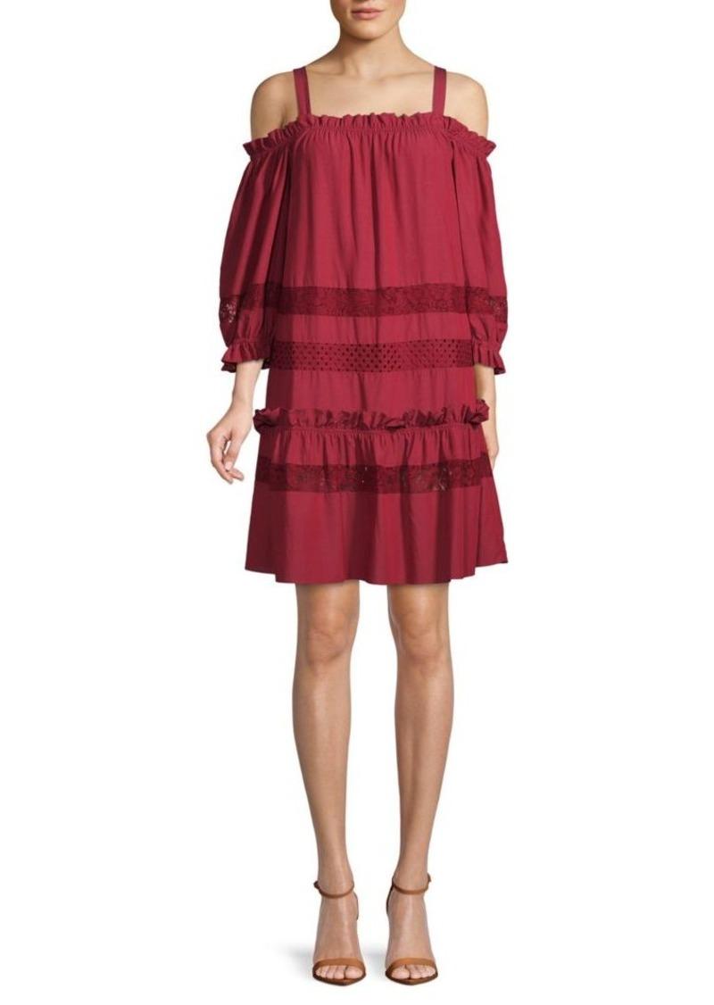 BCBG Max Azria Cold-Shoulder Shift Dress