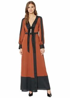 BCBG Max Azria Color Block Long Dress