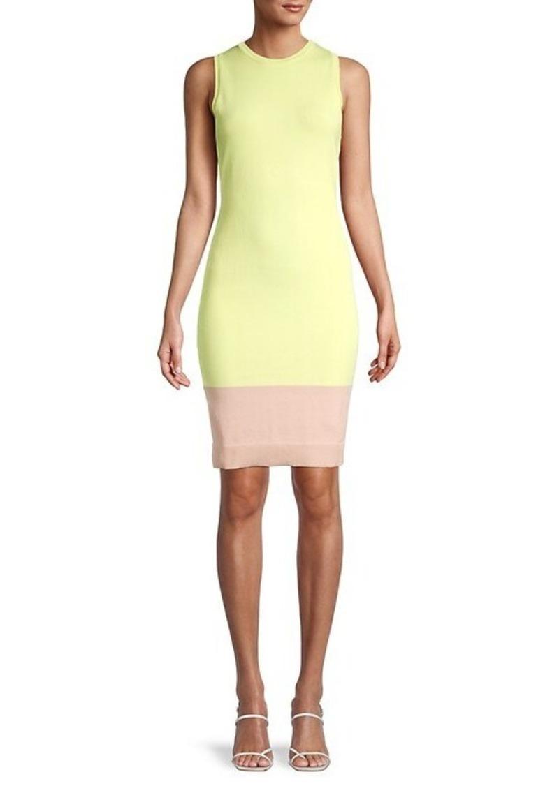 BCBG Max Azria Colorblock Bodycon Dress