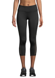 BCBG Max Azria Colorblock Mesh Panel Capri Leggings