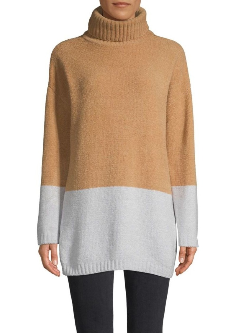 BCBG Max Azria Colorblock Turtleneck Sweater