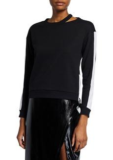 BCBG Max Azria Colorblock Zip Sweatshirt