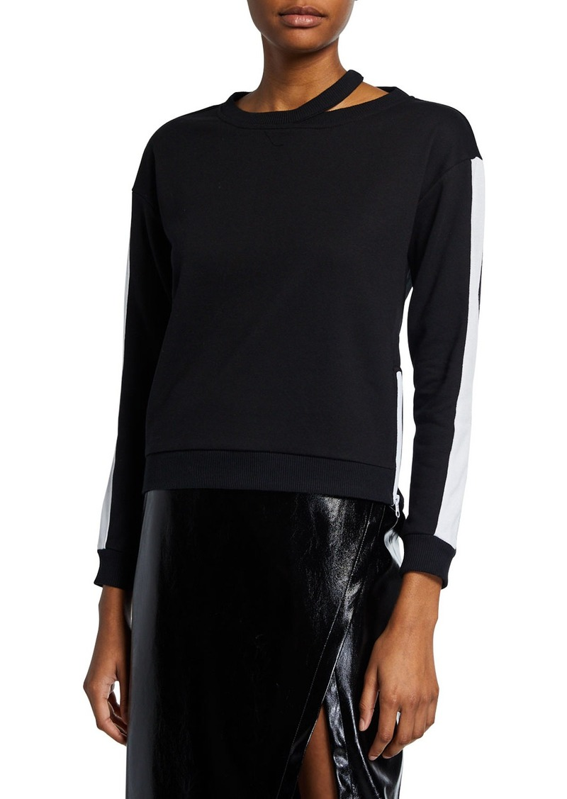 BCBG Max Azria Colorblock Zip Sweatshirt