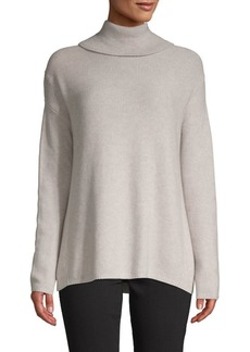 BCBG Max Azria Cotton-Bend Turtleneck Sweater
