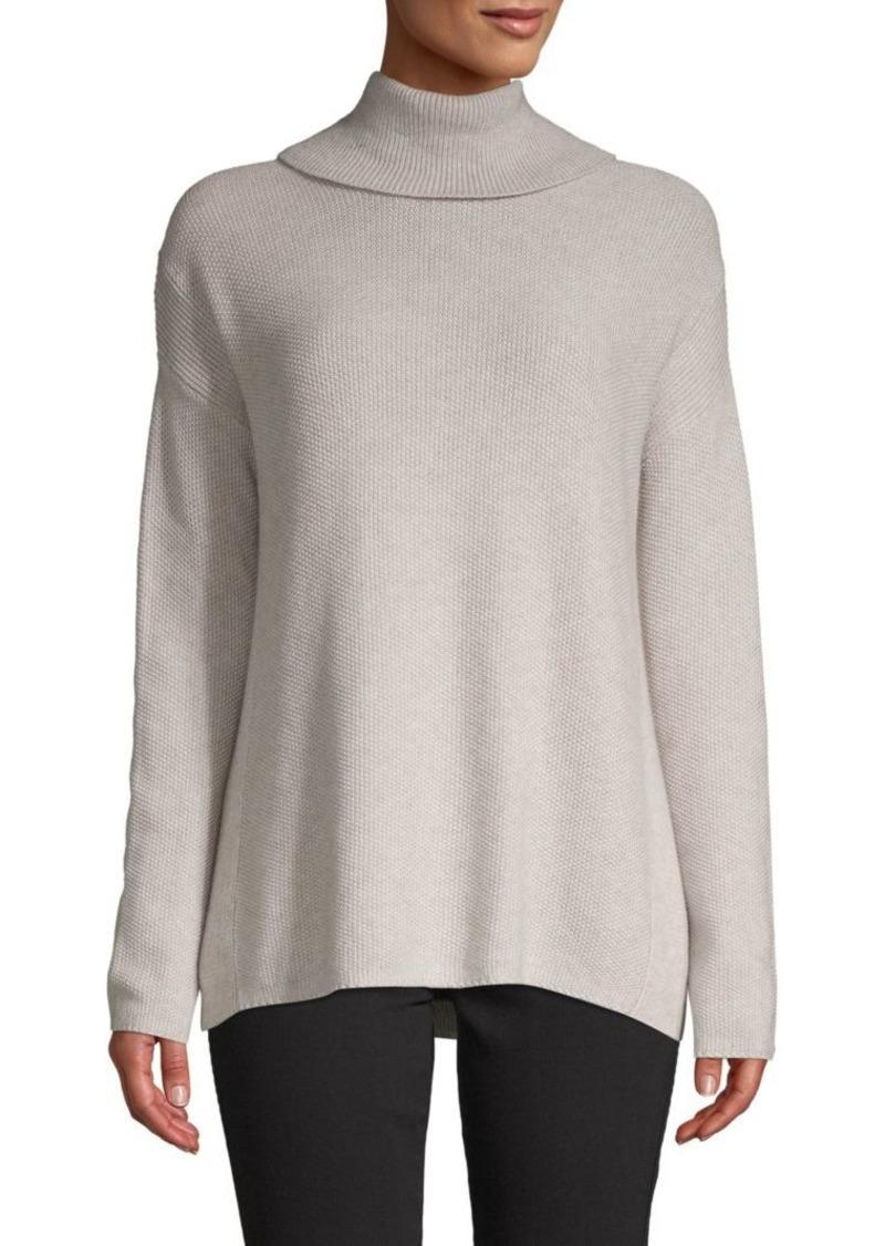 f001087d536e82 BCBG Max Azria Cotton-Bend Turtleneck Sweater   Sweaters