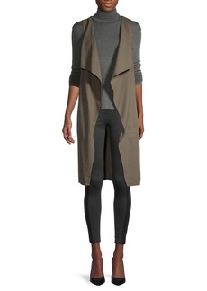 BCBG Max Azria Cotton-Blend Long Vest